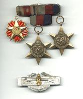 WWII British Ethiopia 3 medal group & badge !