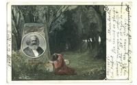 1908 Germany Socialist postcard MARX GRAVE RR
