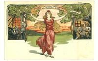 1908 Germany Socialist postcard Lady Slogan R