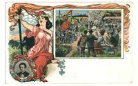 1908 Germany Socialist postcard Party Gather