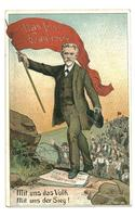 1908 Germany Socialist postcard Leader Banner