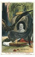 1908 Germany Socialist postcard Paul Singer