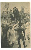 1908 Germany Socialist postcard WORKER MUTINY