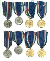 WWII Italy Royal School Merit 4 medal set !