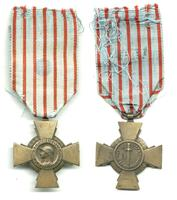 WWII France Combatant Cross combat order NICE