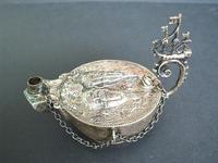 XVIIIc Dutch Ship fight silver Aladdin lamp R