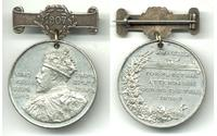 1907 British Edward VII ATTENDANCE medal NAME