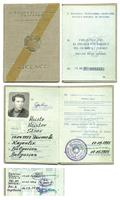1974 Bulgaria Pilot License ID Passport RARE