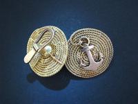 Russian Faberge Gold NAVY Anchor cufflinks