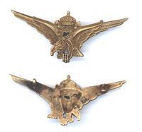 WWII Bulgaria Royal pilot badge wings N5 RARE