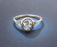 European Antique Victorian Gold Diamond Ring