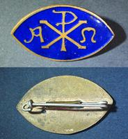 Antique Alpha Rho Omega Fraternity Pin badge