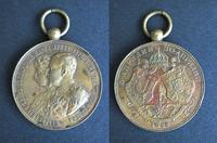 1893 Bulgaria Royal wedding BRONZE medal N5 R