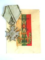 WWII Bulgaria soldier Bravery order 2C case 3