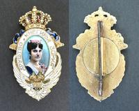 1930 Montenegro Queen Zorka Royal badge pin 2