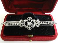 Edwardian pierced Platinum Diamond brooch pin