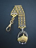 FABERGE Russian Equestrian Diamonds watch fob