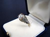 Georgian Gold 1.5 carat rose cut Diamond Ring