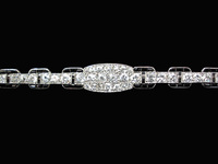CARTIER Art Deco Platinum Brooch w. Diamonds