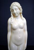 Art Nouveau Nude Ivory Sculpture by Zelezny