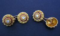GIULIANO Etruscan Revival Diamond Cufflinks