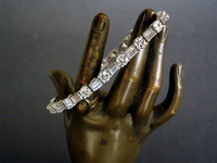 Art Deco Diamond Platinum Bracelet 8.5 Carat