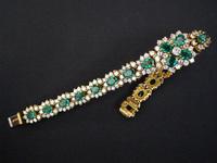 Harry Winston Emerald Diamond Bracelet Estate