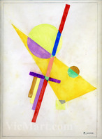Russian Avant-garde Painting by Ivan Kliun