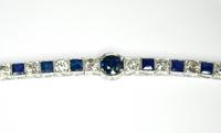 Belle Epoque Diamond Sapphire Gold Bracelet