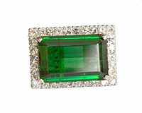 LARGE Emerald Green Chrome Tourmaline Ring