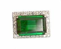 LARGE Emerald Green Chrome Tourmaline Ring