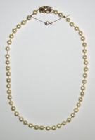 Antique Cultured Pearl Necklace Diamond Clasp