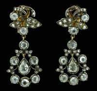 1770 18th Century Girondelle Diamond Earrings