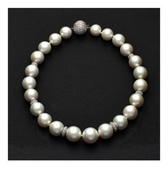 18-14mm White AAA South Sea Pearl Necklace