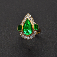 Fine Colombian Muzo Emerald Diamond Ring