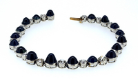 Antique 25Ct Burma Sapphire Diamond Bracelet