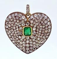 Victorian Valentine\'s Diamond Heart Pendant