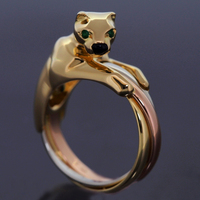 Cartier Trinity Panthere Tri-Color Gold Ring