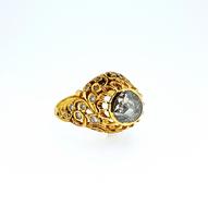 c1830 Georgian Diamond Encrusted Flower Ring